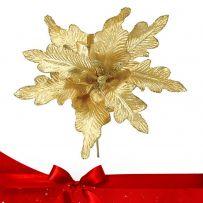 Χρυσά - Μπρονζέ Χριστουγεννιάτικα Λουλούδια Πικ