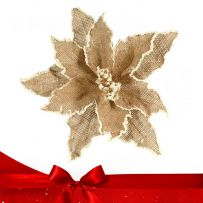 Natural - Καφέ Χριστουγεννιάτικα Λουλούδια Πικ