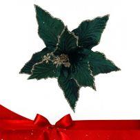 Μπλε - Πράσινα Χριστουγεννιάτικα Λουλούδια Πικ