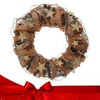Χριστουγεννιάτικα Ξύλινα Στεφάνια