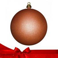 Μπρονζέ - Πορτοκαλί Χριστουγεννιάτικες Μπάλες