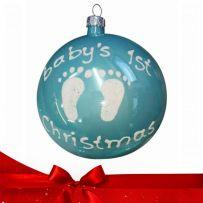 Χριστουγεννιάτικες Γυάλινες Μπάλες Χειροποίητες