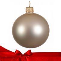 Μπεζ - Σαμπανιζέ Χριστουγεννιάτικες Μπάλες