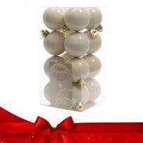 Χριστουγεννιάτικες Πλαστικές Μπάλες Σετ