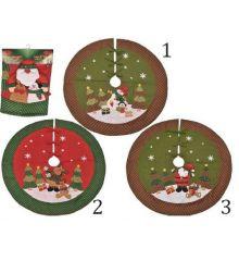 Χριστουγεννιάτικη Ποδιά Δέντρου, 3 Σχέδια - 107εκ