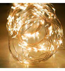 200 Gold Θερμά Φωτάκια LED Copper Εξωτερικού Χώρου, Χταπόδι (10*2m)