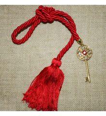 Χριστουγεννιάτικο Γούρι με Χρυσό Κλειδί και Κρόσια, 38cm