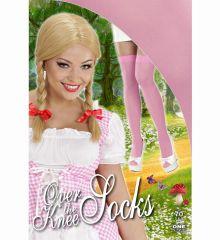 Αποκριάτικο Αξεσουάρ Ροζ Ψηλές Κάλτσες