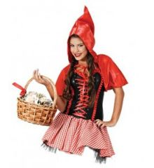 Αποκριάτικη Στολή Κοκκινοσκουφίτσα Φούστα Καρό