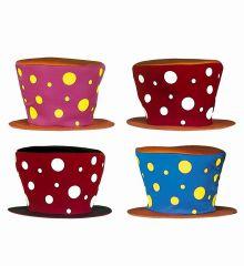 Αποκριάτικο Αξεσουάρ Καπέλο Κλόουν Πουά (4 Χρώματα)