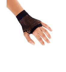 Αποκριάτικο Αξεσουάρ Μαύρα Κοντά Γάντια