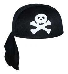 Αποκριάτικο Αξεσουάρ Καπέλο Πειρατή Μαντήλι Μαύρο