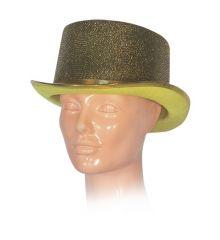 Αποκριάτικο Αξεσουάρ Χρυσό Ψηλό Καπέλο Γυαλιστερό