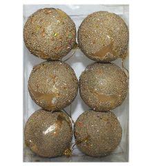 Χριστουγεννιάτικες Μπάλες Χρυσές Ανάγλυφες με Σχέδιο Ελαφάκι - Σετ 6 τεμ. (6cm) Υλικό: Πλαστικό Χρώμα: Χρυσό Διάμετρος: 6 cm Συσκευασία: 6 τεμάχια H τιμή αναφέρεται σε μία συσκευασία