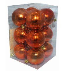 Χριστουγεννιάτικες Μπάλες Μπρονζέ - Σετ 12 τεμ. (6cm)