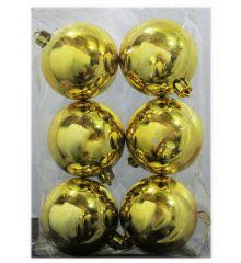 Χριστουγεννιάτικες Μπάλες Χρυσές - Σετ 6 τεμ. (6cm)