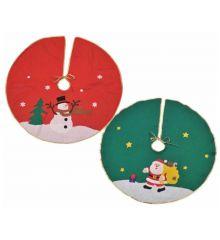Χριστουγεννιάτικη Ποδιά Δέντρου, σε 2 Χρώματα και Σχέδια (76cm)