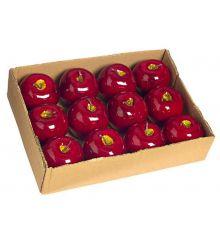 Χριστουγεννιάτικα Διακοσμητικά Kόκκινα Μήλα - Σετ 12 τεμ. (10cm)