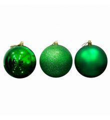 Χριστουγεννιάτικες Μπάλες Πράσινες - Σετ 6 τεμ. (10cm)