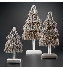 Χριστουγεννιάτικο Ξύλινο Δέντρο Χιονισμένο με Κλαδάκια (80cm)