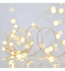 100 Gold Θερμά Φωτάκια LED Copper, με Χρονοδιακόπτη (5m)