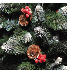 Χριστουγεννιάτικο Χιονισμένο Δέντρο BERRY SNOWY με Κουκουνάρια (2,1m)