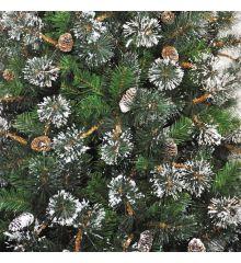 Χριστουγεννιάτικο Χιονισμένο Δέντρο MARYLAND με Κουκουνάρια (2,1m)