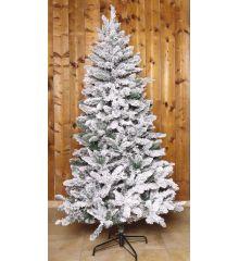 Χριστουγεννιάτικο Χιονισμένο Δέντρο FLOCKED PINE (2,1m)