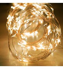 200 Gold Θερμά Φωτάκια LED Copper Εξωτερικού Χώρου, Χταπόδι με Χρονοδιακόπτη (10*2m)