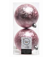 Χριστουγεννιάτικες Μπάλες Ροζ - Σετ 2 τεμ. (10cm)