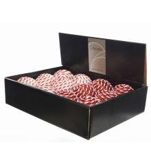 Χριστουγεννιάτικη Μπάλα με Ρίγες και Στρας - 2 Χρώματα (8cm)