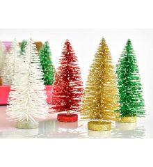 Χριστουγεννιάτικo Διακοσμητικό Δεντράκι - 4 Χρώματα (15cm)
