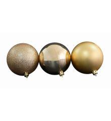 Χριστουγεννιάτικες Μπάλες Χρυσές - Σετ 6 τεμ. (10cm)