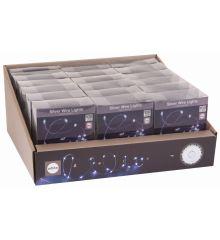 100 Λευκά Ψυχρά Φωτάκια LED Copper Μπαταρίας (5m)