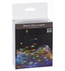 100 Πολύχρωμα Φωτάκια LED Copper Μπαταρίας (5m)