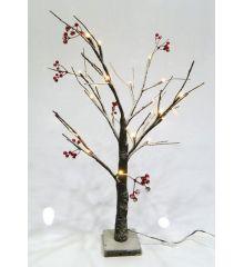 Χριστουγεννιάτικο Φωτιζόμενο Επιτραπέζιο Δεντράκι με Γκι και 24 LED (60cm)