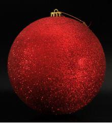 Χριστουγεννιάτικη Κόκκινη Μπάλα Οροφής με Στρας (20cm)