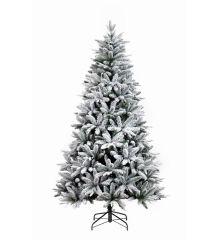 Χριστουγεννιάτικο Χιονισμένο Δέντρο ALASKA με Γκι και Κουκουνάρια (2,1m)