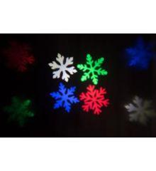 Χριστουγεννιάτικος Προβολέας LED, Πολύχρωμες Χιονονιφάδες