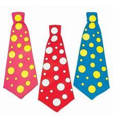 Αποκριάτικο Αξεσουάρ Γραβάτα Κλόουν Πουά (3 Χρώματα)