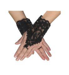 Αποκριάτικο Αξεσουάρ Γάντια Κοντά Florence Δαντέλα