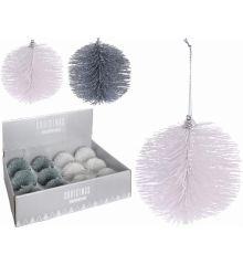 Χριστουγεννιάτικη Μπάλα με Πευκοβελόνες - 2 Χρώματα (10cm)