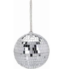 Χριστουγεννιάτικη Μπάλα Ασημί Disco (12cm)