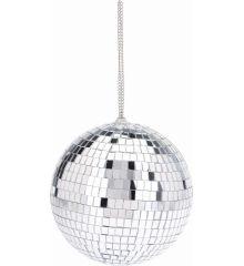 Χριστουγεννιάτικη Μπάλα Οροφής Ασημί Disco (18cm)