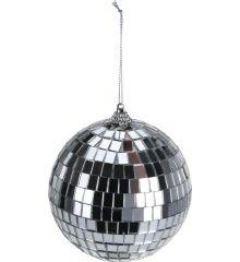 Χριστουγεννιάτικη Μπάλα Ασημί Disco (10cm)
