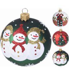 Χριστουγεννιάτικη Μπάλα με Διακόσμηση - 3 Σχέδια (8cm)