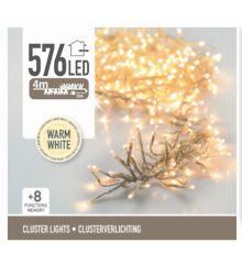576 Λευκά Θερμά Φωτάκια LED Φοίνικας Εξωτερικού Χώρου, με 8 Προγράμματα (4m)