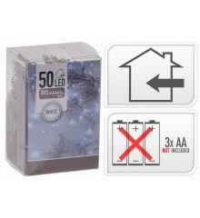 50 Λευκά Ψυχρά Φωτάκια LED Μπαταρίας (5m)
