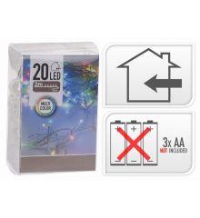 20 Πολύχρωμα Φωτάκια LED Μπαταρίας (2m)