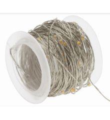 120 Λευκά Θερμά Φωτάκια LED Copper Εξωτερικού Χώρου (12m)